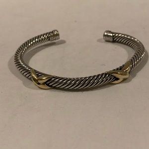 David Yurman double X cable classic bracelet
